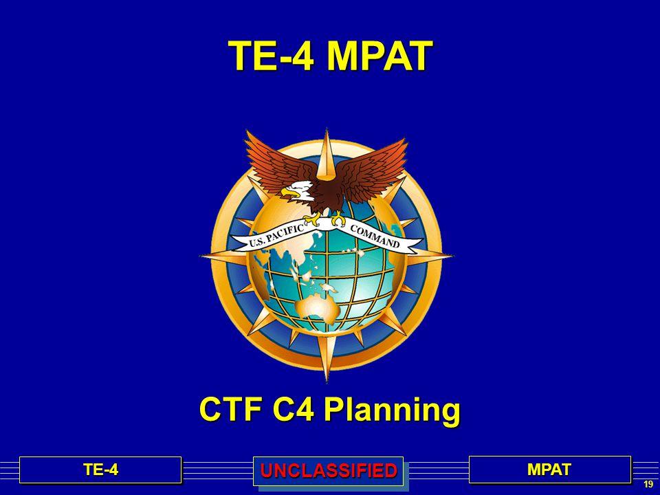 TE-4 MPAT CTF C4 Planning 19 TE-4TE-4MPATMPATUNCLASSIFIEDUNCLASSIFIED