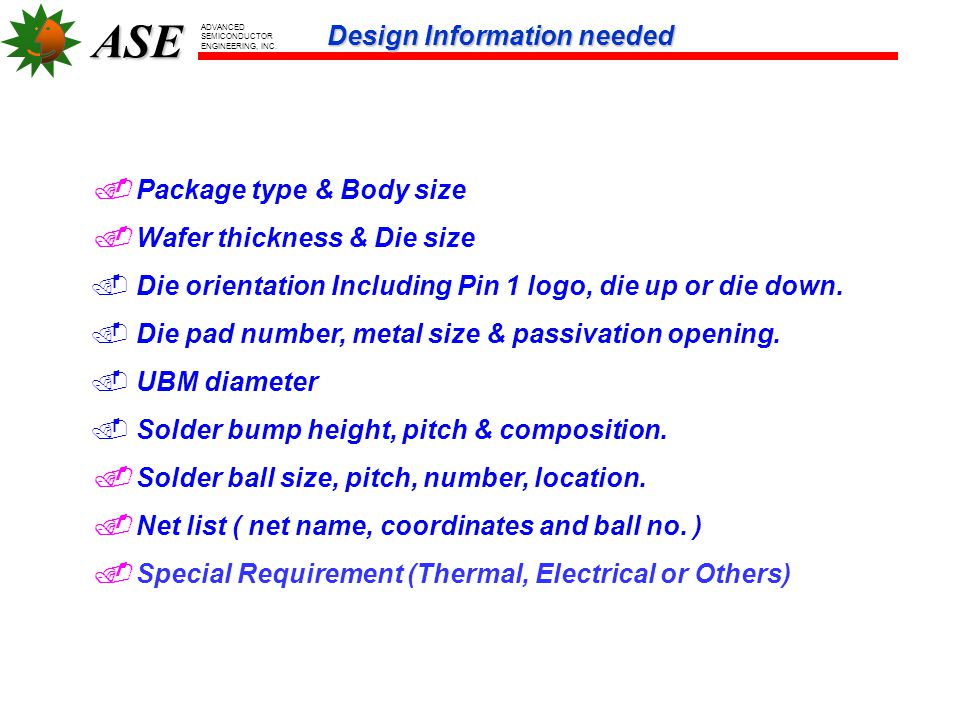 ASE ADVANCED SEMICONDUCTOR ENGINEERING, INC.