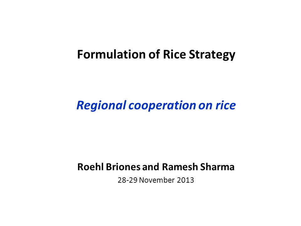 Questions asked Where are added values from Regional Cooperation (RC).