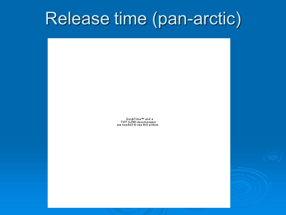 Release time (pan-arctic)