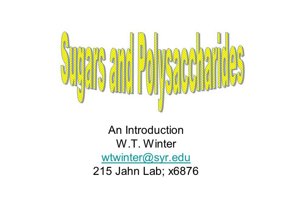 An Introduction W.T. Winter wtwinter@syr.edu 215 Jahn Lab; x6876