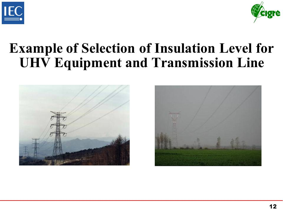 12 Example of Selection of Insulation Level for UHV Equipment and Transmission Line