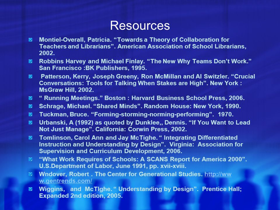 Resources Montiel-Overall, Patricia.