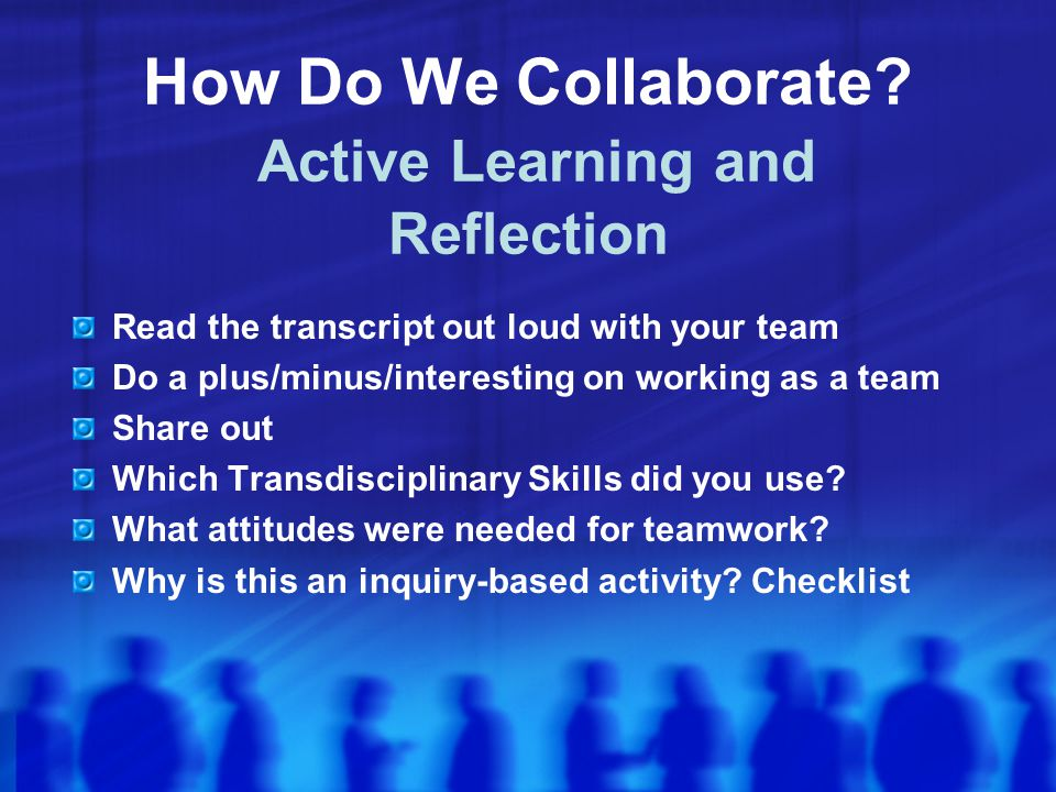 How Do We Collaborate.