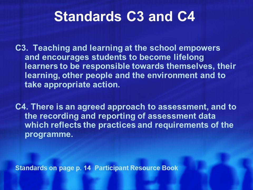 Standards C3 and C4 C3.