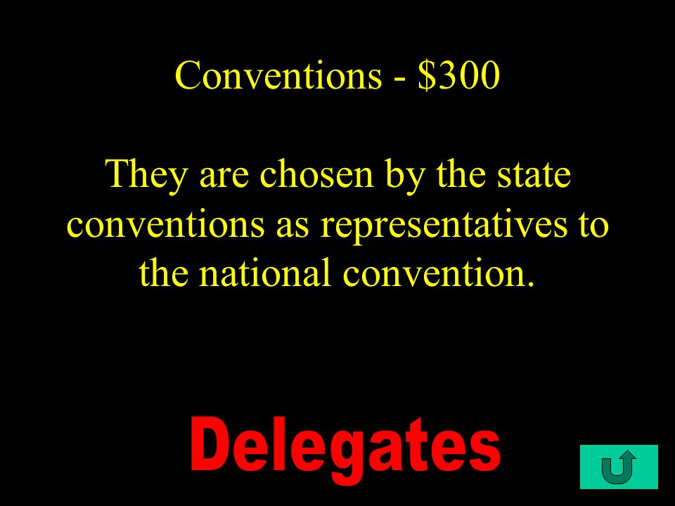 C2-$200 Conventions - $200 The main speech given at the convention.