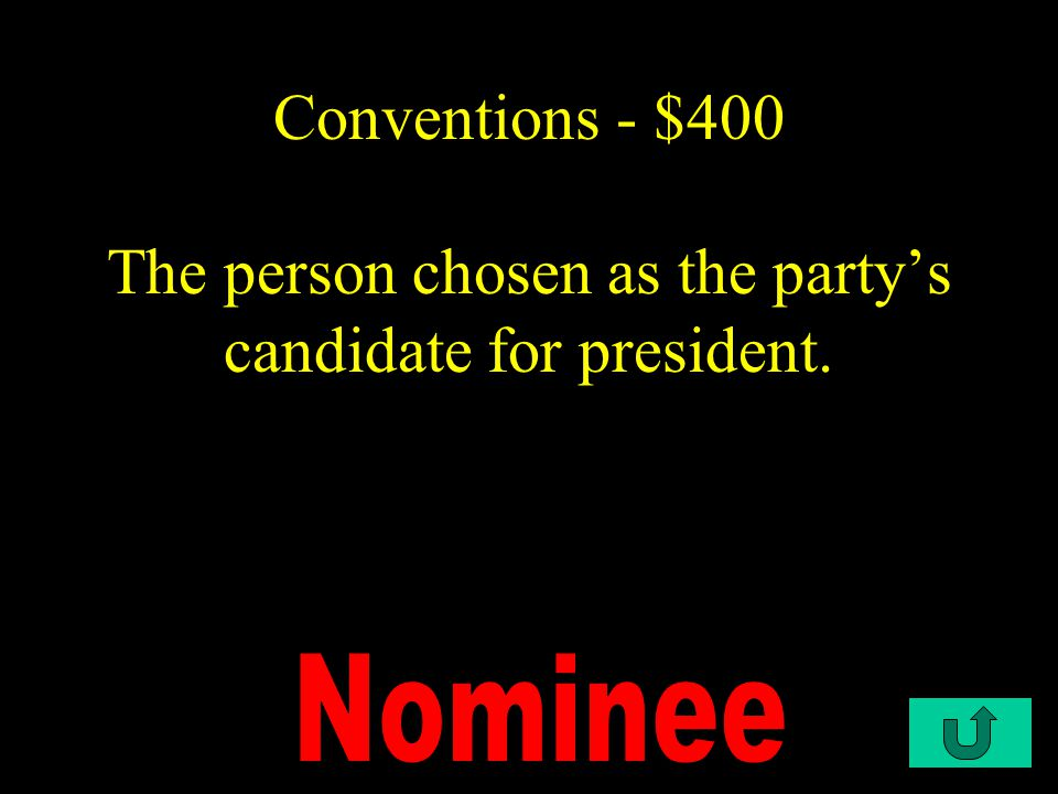 C2-$300 Conventions - $300 They are chosen by the state conventions as representatives to the national convention.