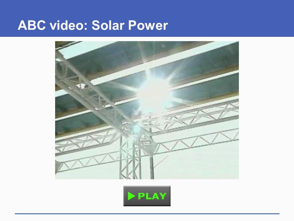 ABC video: Solar Power