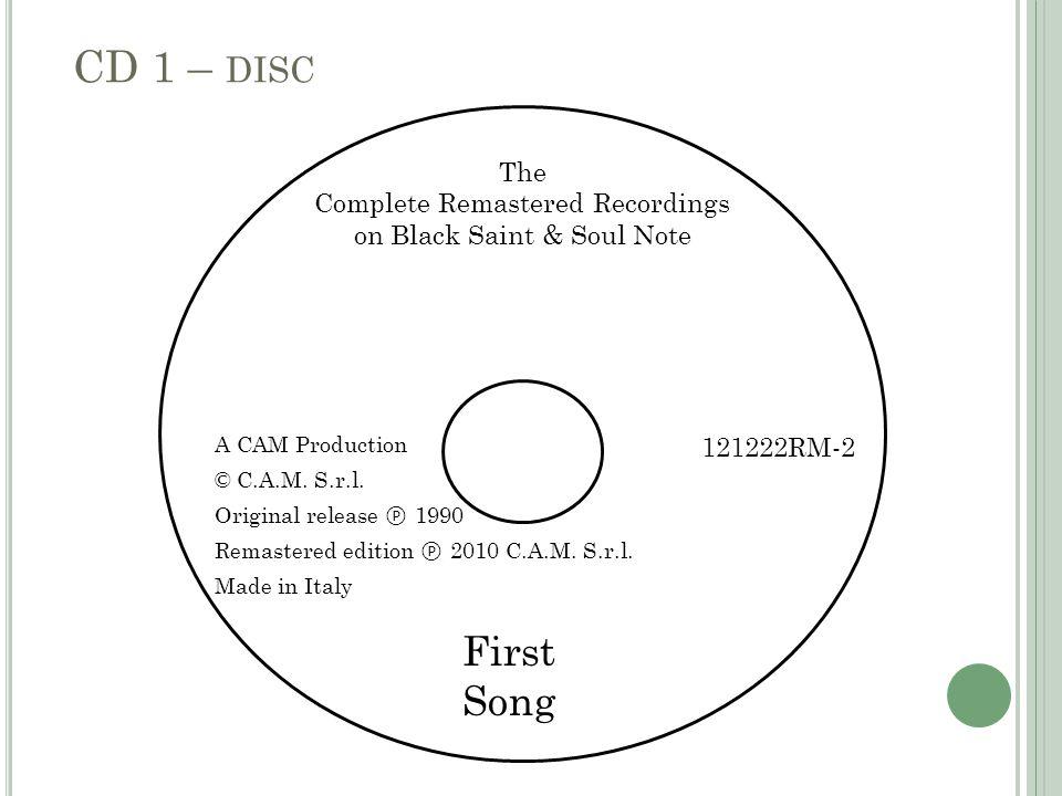 A CAM Production © C.A.M. S.r.l. Original release ℗ 1990 Remastered edition ℗ 2010 C.A.M.
