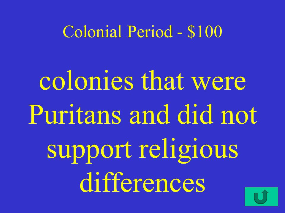 $100 $200 $300 $400 $500 Revolution NationalSteps Civil War Cold War Colonial Title ScreenTitle Screen