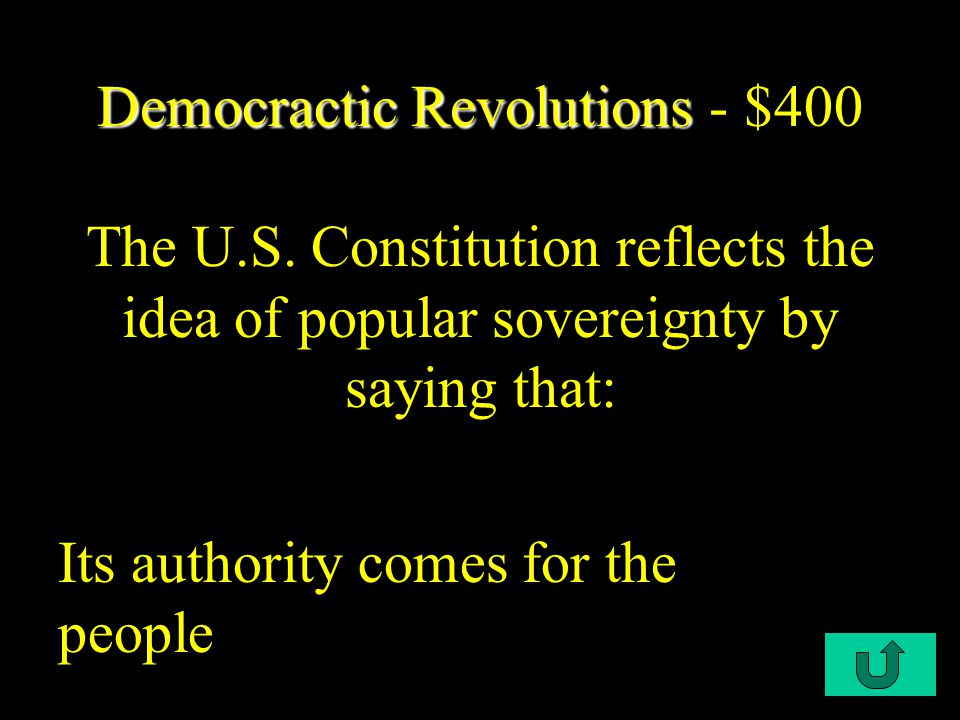 C2-$300 Democratic Revolutions Democratic Revolutions - $300 Which right in the U.S.