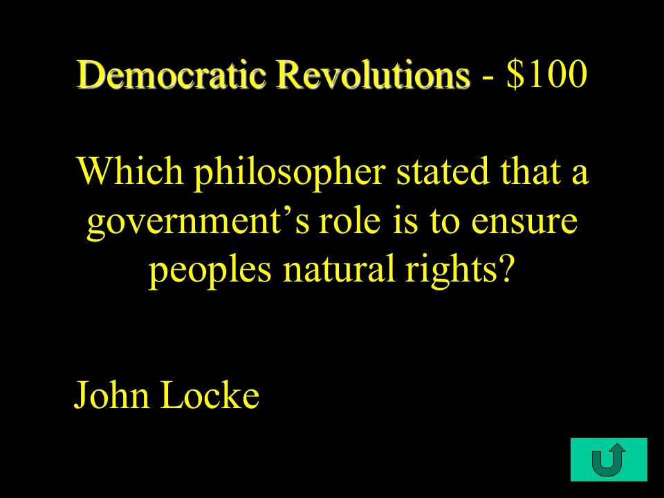C1-$500 Birth of Democracy Birth of Democracy - $500 This is considered the most unique aspect of the development of democracy… Governing by councils