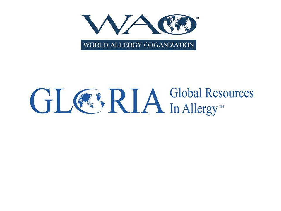 Global Resources in Allergy (GLORIA™) Global Resources In Allergy (GLORIA™) is the flagship program of the World Allergy Organization (WAO).