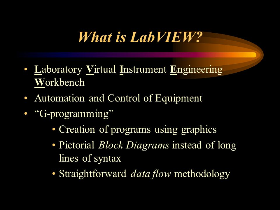 What is LabVIEW.