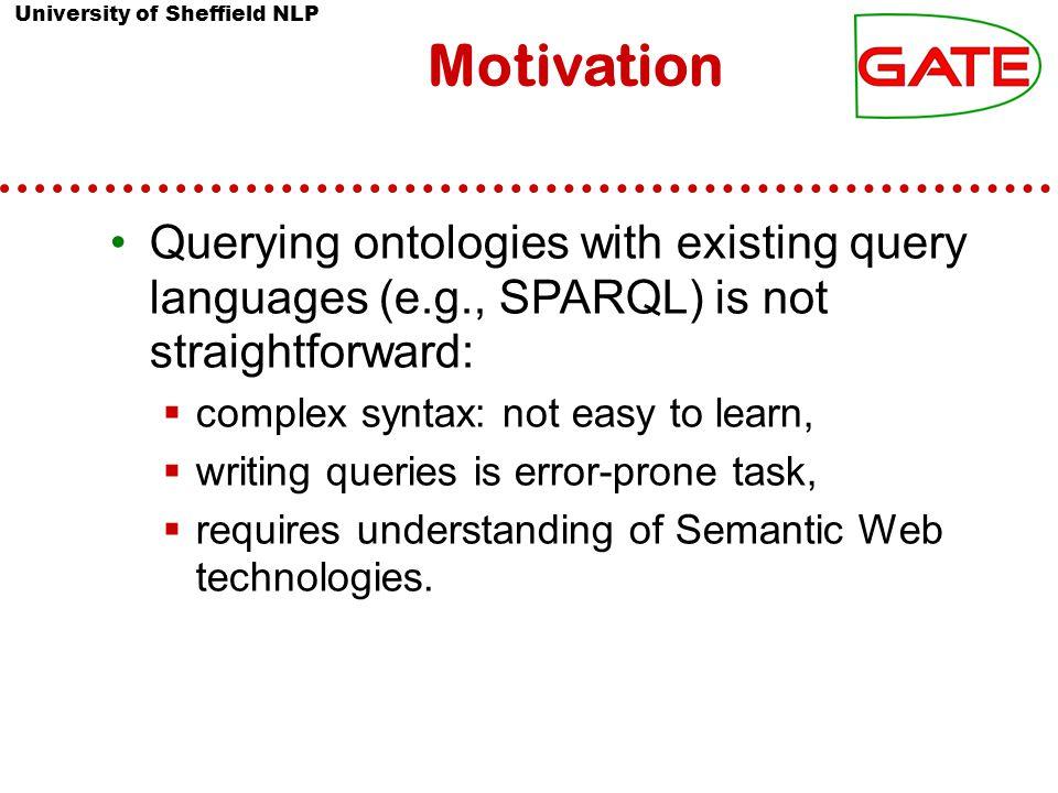 University of Sheffield NLP 14 Danica Damljanović Question-based Interface to Ontologies