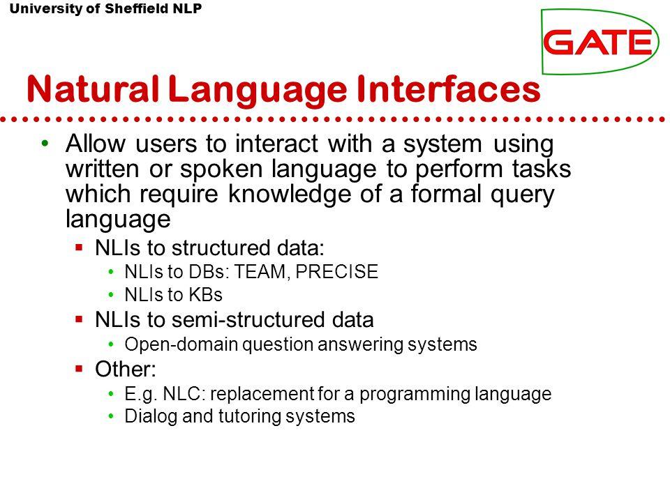 University of Sheffield NLP Undefined tasks Developer of Tokeniser Projects about GATE , GATE web site Tokenizer vs.