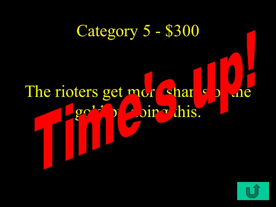 C4-$200 Category 5 - $200 Rioters are sure they can destroy Death, but do not see they are falling into a trap (the reader does see this, however).