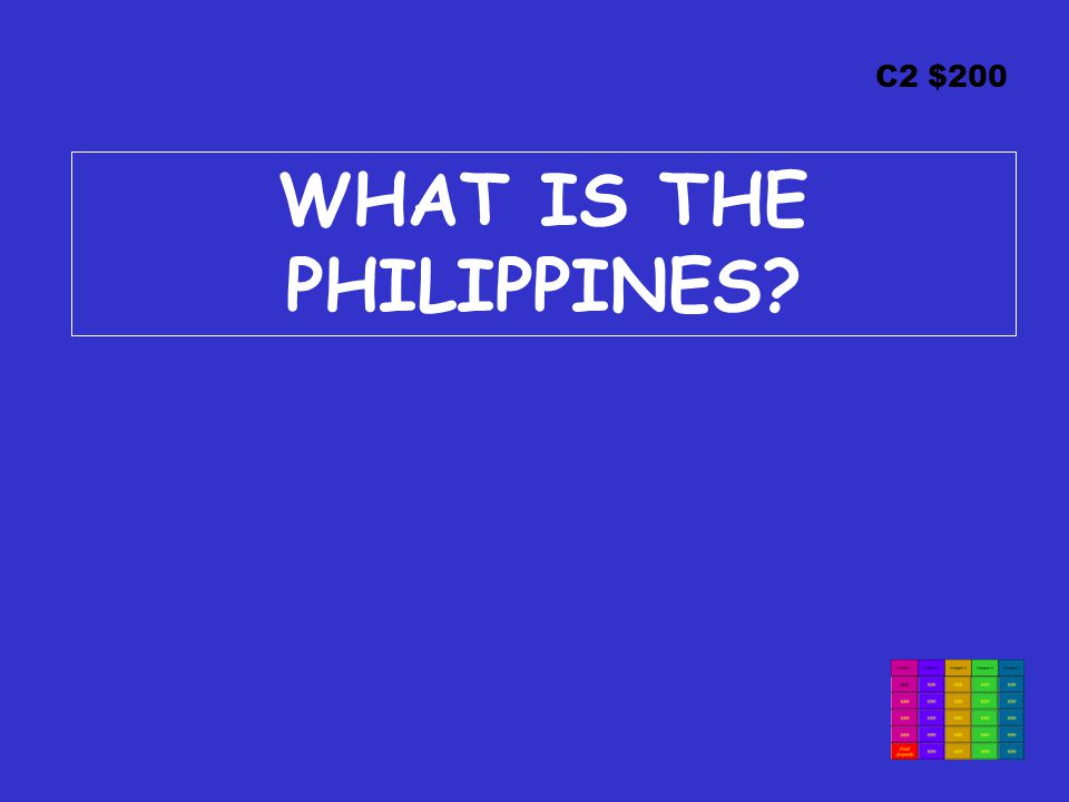 C2 $200 WHAT IS THE PHILIPPINES