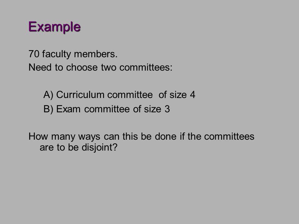 Example 70 faculty members.