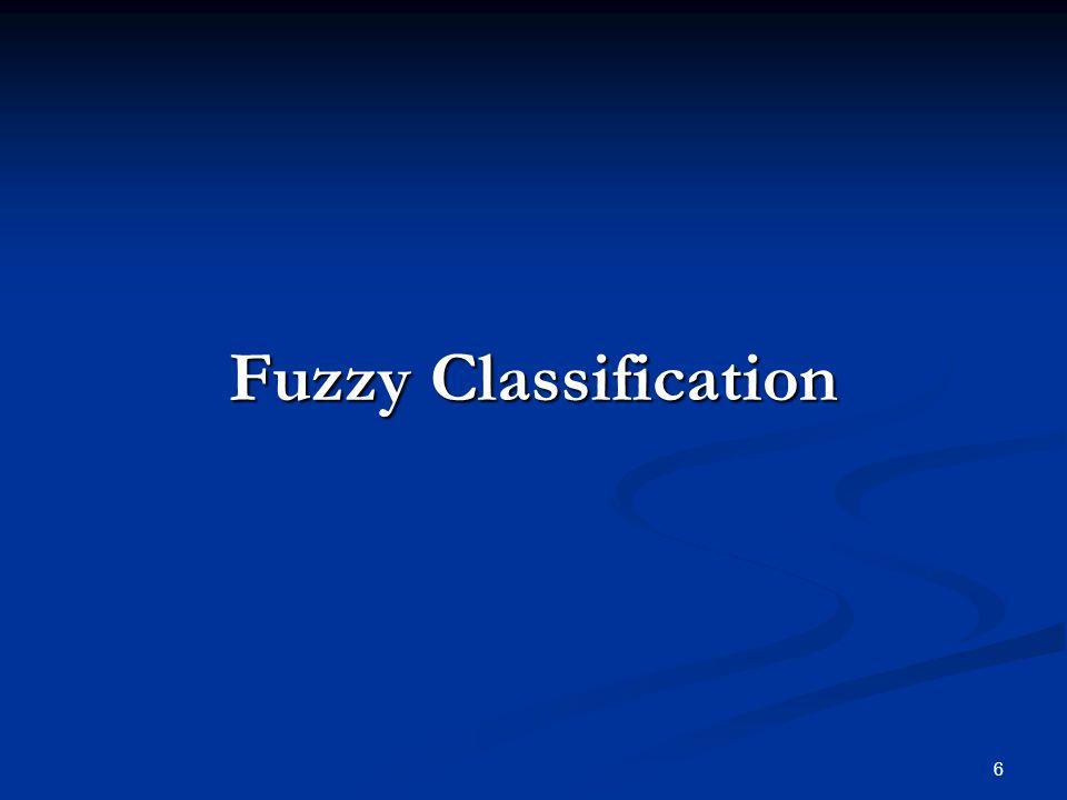6 Fuzzy Classification