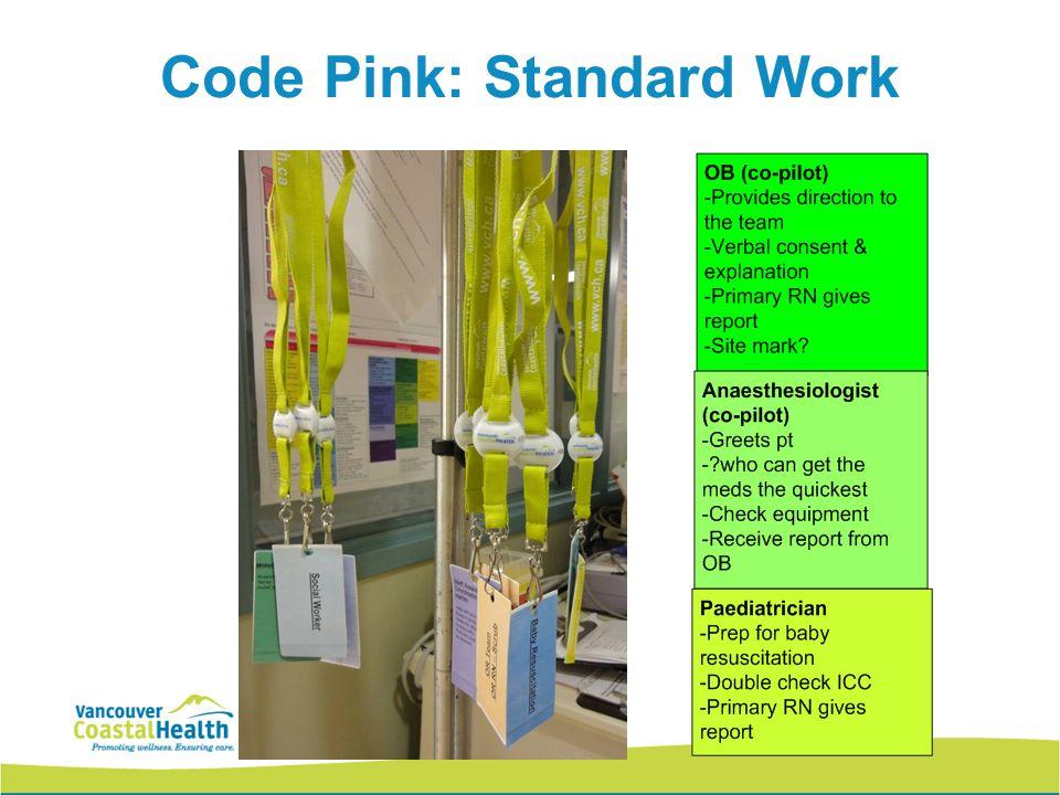 Code Pink: Standard Work