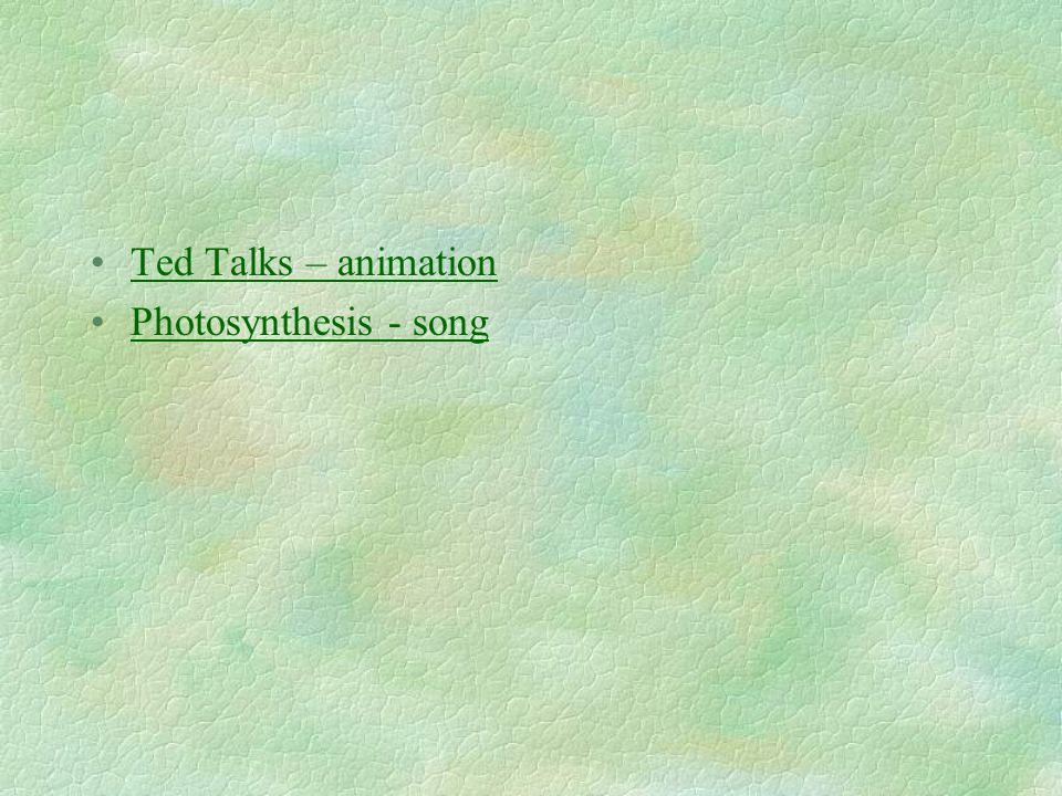 Ted Talks – animation Photosynthesis - song