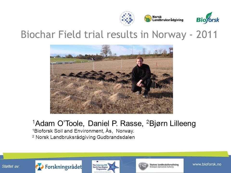 Biochar Field trial results in Norway - 2011 1 Adam O'Toole, Daniel P.
