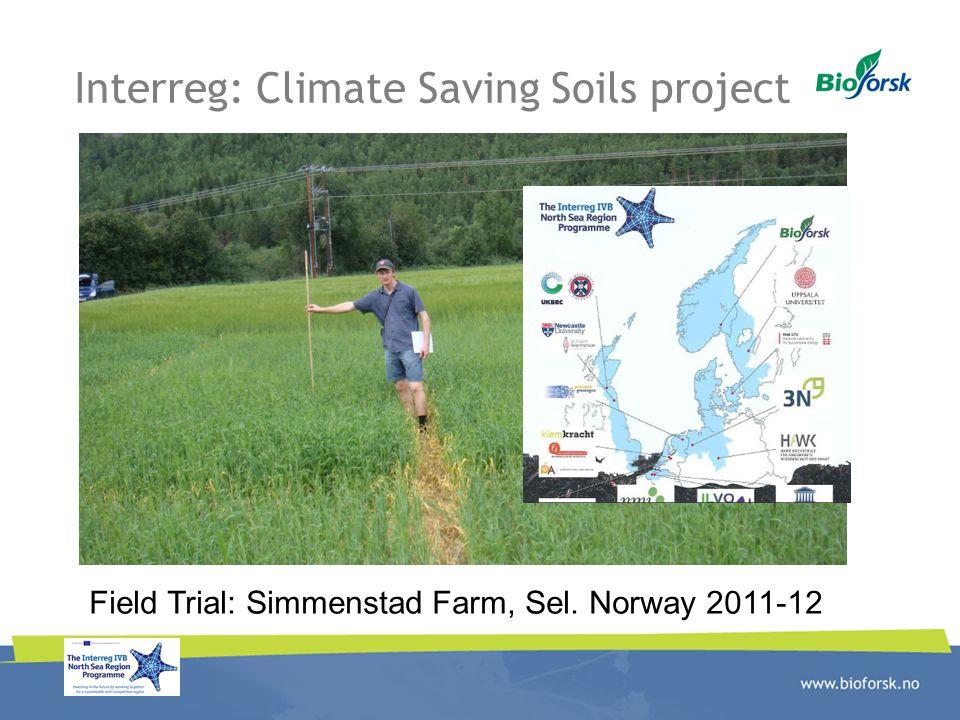 Interreg: Climate Saving Soils project Field Trial: Simmenstad Farm, Sel. Norway 2011-12