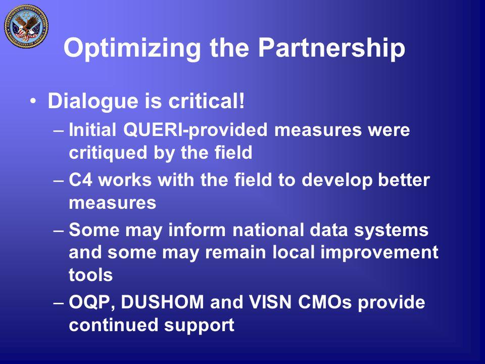 Optimizing the Partnership Dialogue is critical.