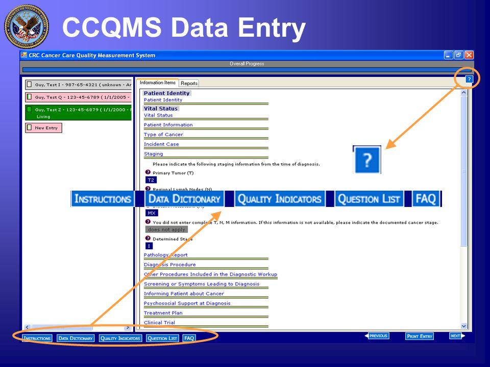 CCQMS Data Entry