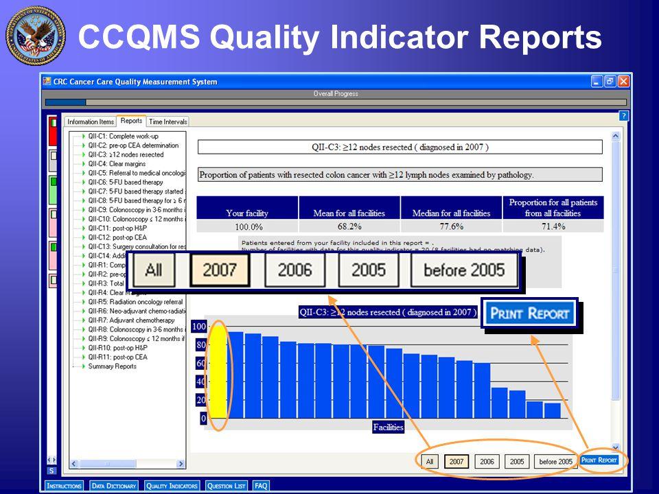 3 CCQMS Quality Indicator Reports