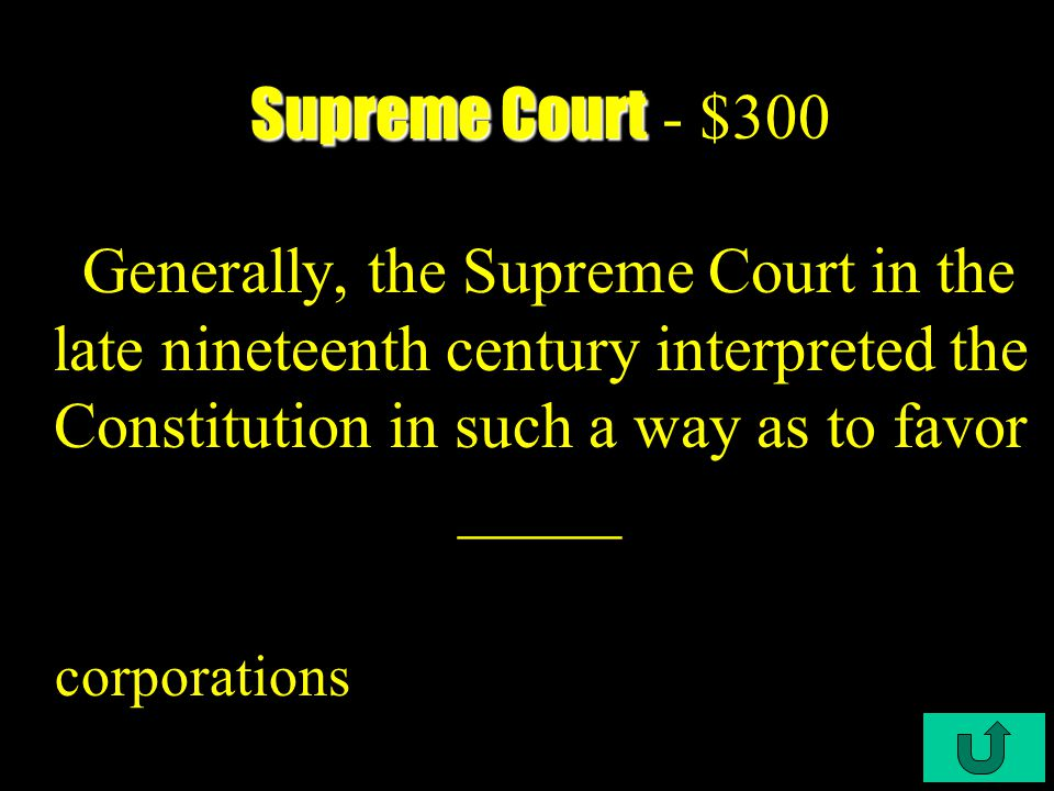 C3-$200 Supreme Court Supreme Court - $200 This Supreme court Case allowed the laws protecting women workers? Miller vs Oregon