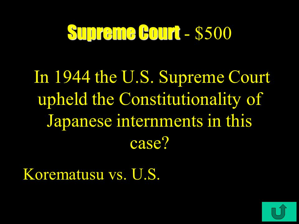 C3-$400 Supreme Court Supreme Court - $400 What was FDR's big miscalculation in 1937.