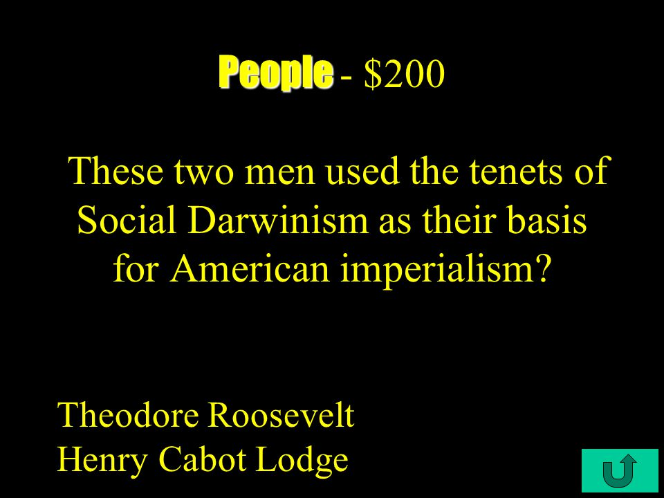 C4-$100 People People - $100 Wilson was steeped in this past Presidents ideas? Andrew Jackson