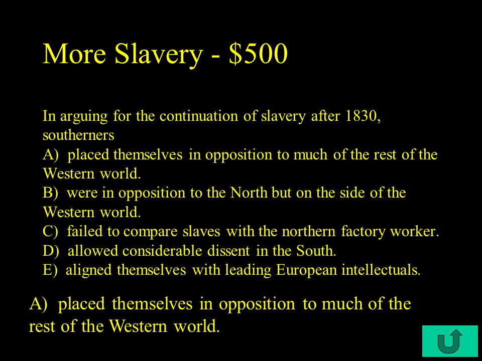 C2-$400 More Slavery - $400 He was an abolitionist that was also known as the golden trumpet A.