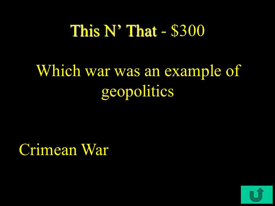 C4-$200 This N' That This N' That - $200 Why did U.S.