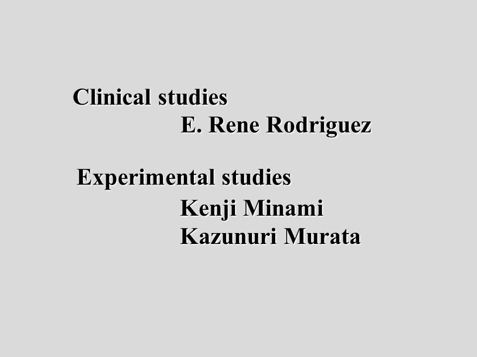 Kenji Minami Kazunuri Murata Clinical studies E. Rene Rodriguez Experimental studies