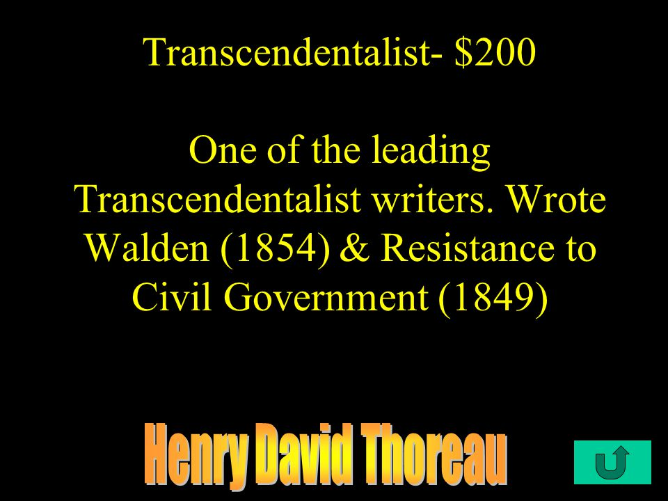 C2-$100 Transcendentalism- $100 Infinite benevolence of God, infinite benevolence of nature, divinity of man.