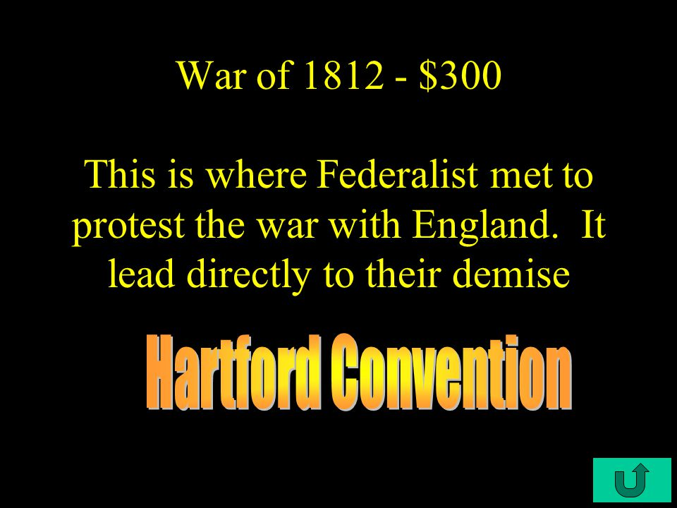 C3-$200 War of 1812 - $200 It provided for the mutual restoration of all conquests and made no mention of maritime laws or other issues for which the U.S.
