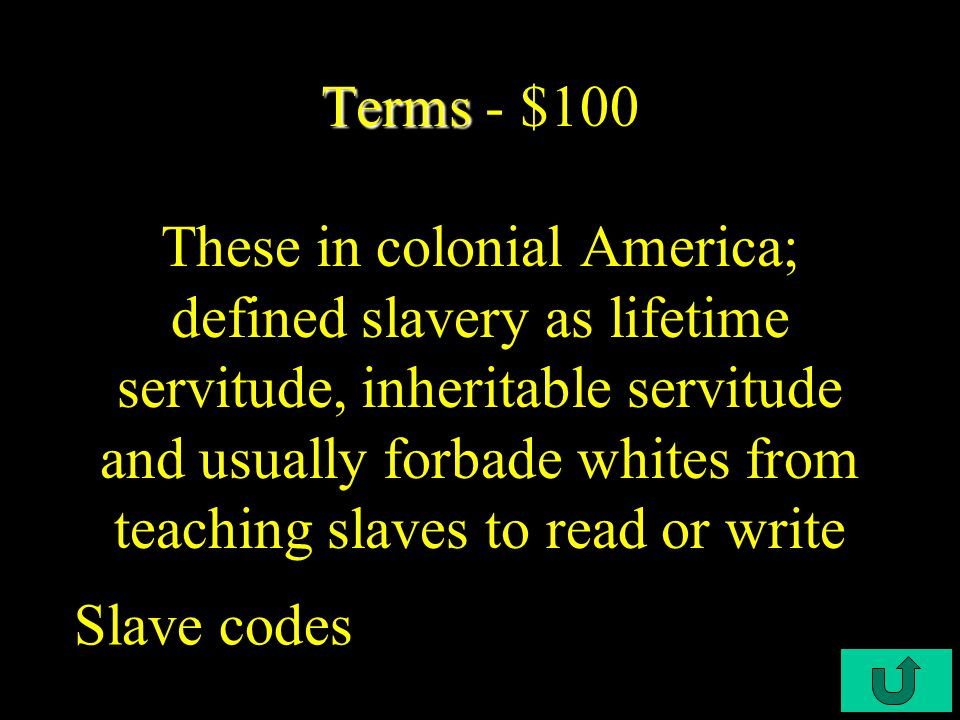 C2-$500 Potpourri Potpourri - $500 The most ethnically diverse region of colonial America was __________, whereas __________ was the least ethnically diverse.