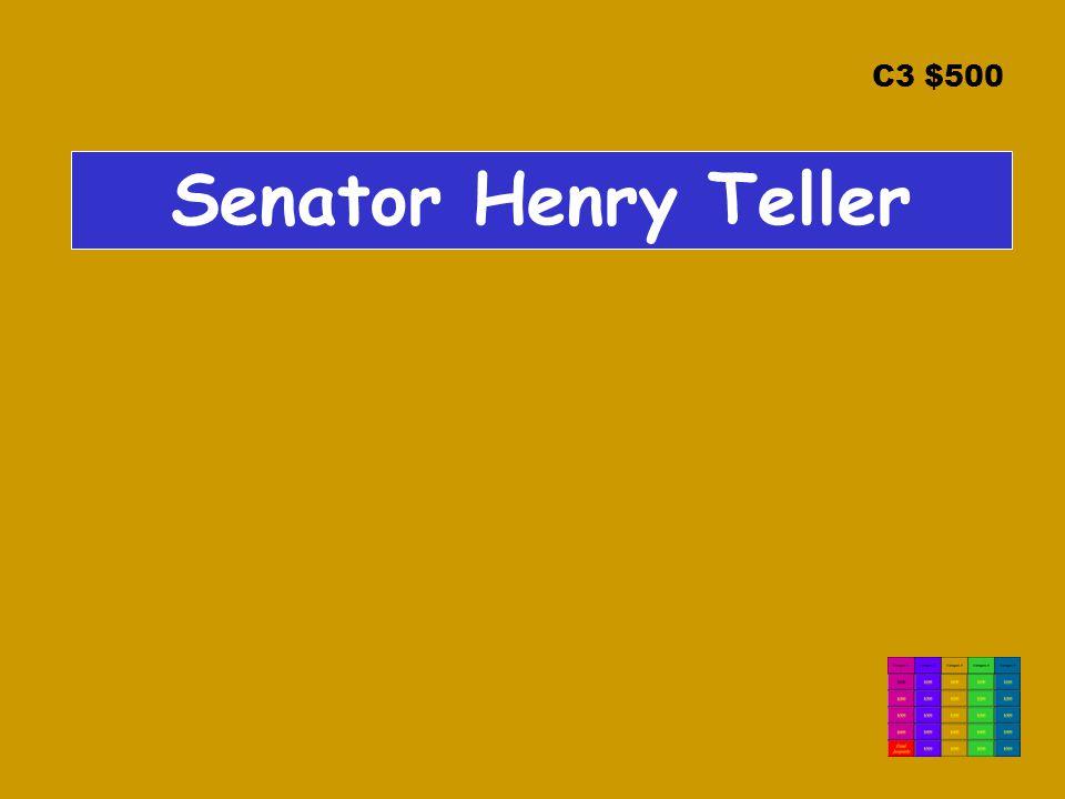 C3 $500 Senator Henry Teller