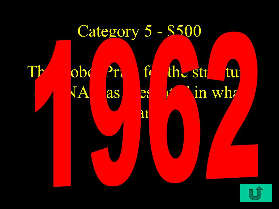 C4-$400 Category 5 - $400 the three parts of a NUCLEOTIDE
