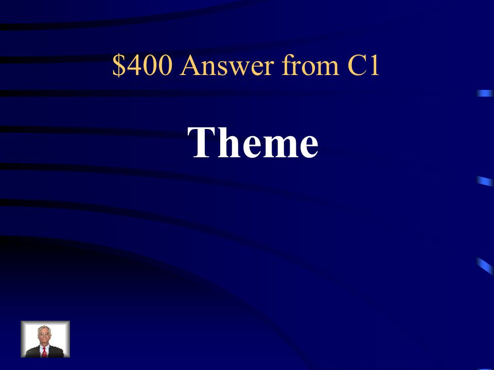 $400 Question from C1 The underlying message the Author wants you to learn From the story.