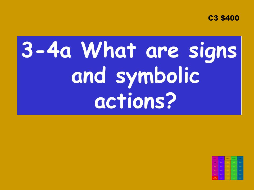 C3 $400 3-4a What are signs and symbolic actions?