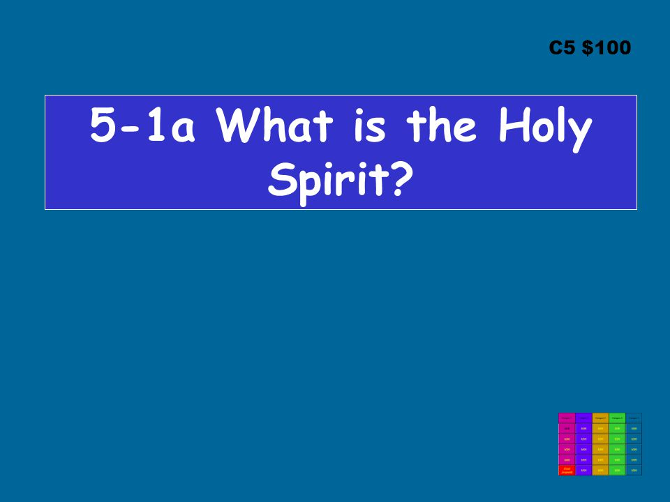 C5 $100 5-1a What is the Holy Spirit?