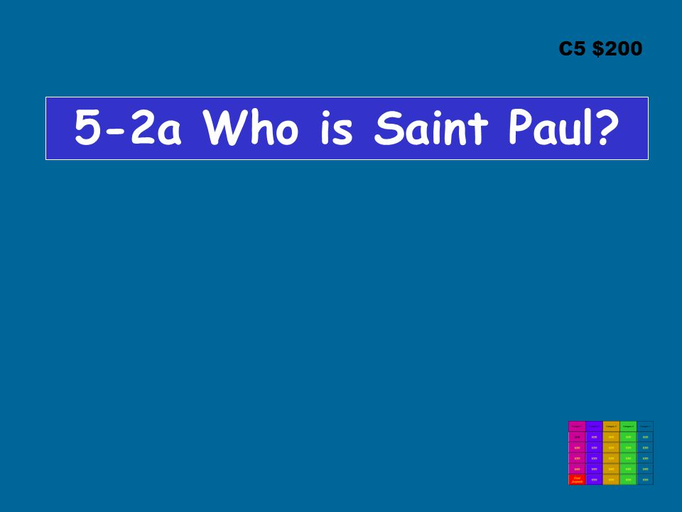 C5 $200 5-2a Who is Saint Paul?