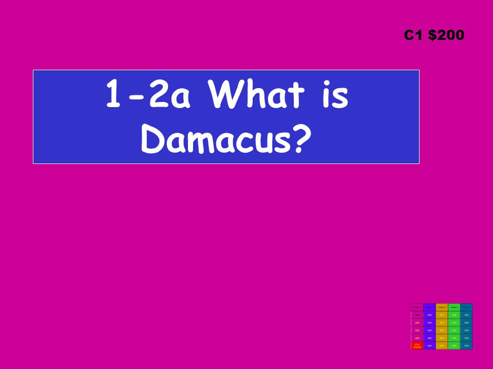 1-2a What is Damacus? C1 $200