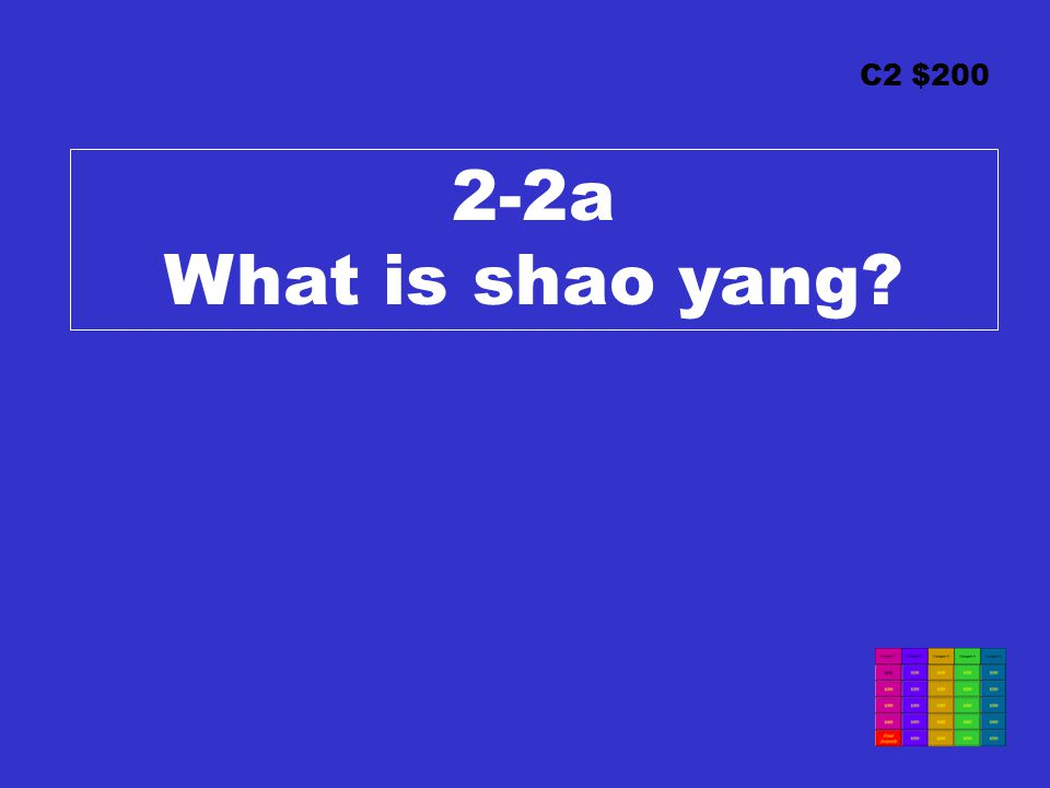 C2 $200 2-2a What is shao yang