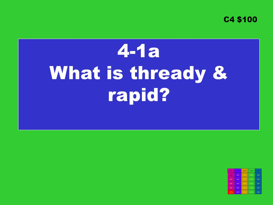 C4 $100 4-1a What is thready & rapid