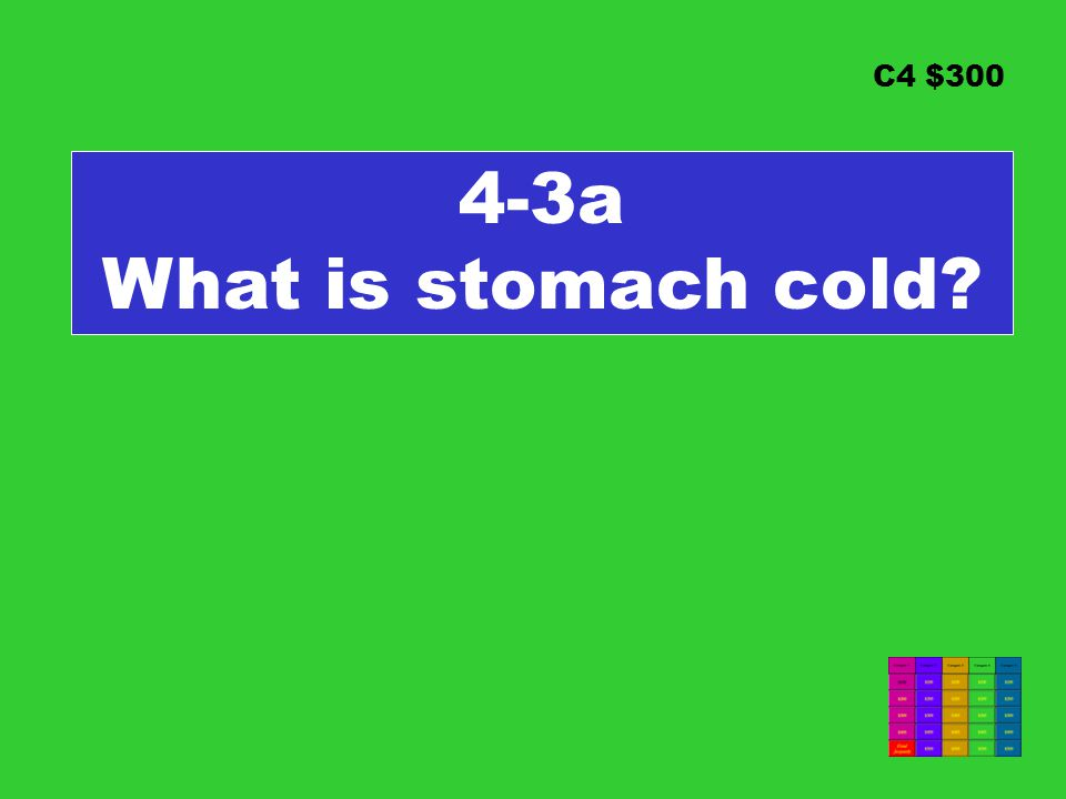 C4 $300 4-3a What is stomach cold